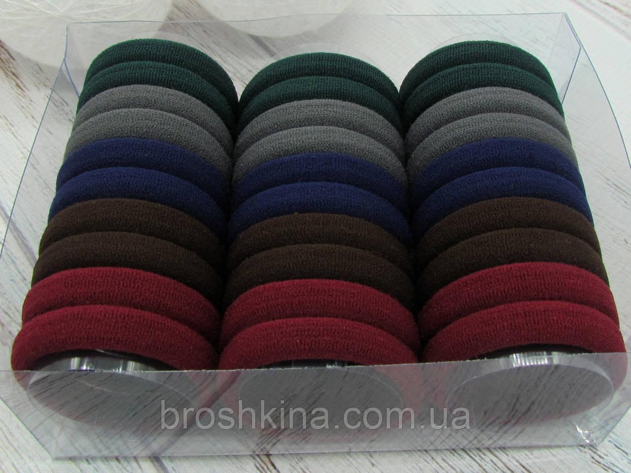 Резинки для волос Ø 4.5 см микрофибра 30 шт. в коробочке
