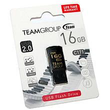 USB 2.0 флеш накопичувач 16GB Team C171 (TC17116GB01) чорний новий
