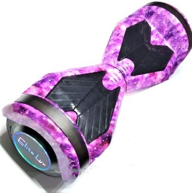 Гироборд Smart Balance 8 дюймів Космос фіолетовий самобаланс | гироскутер дитячий Смарт Баланс 8 LED фари
