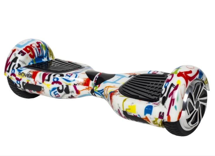 Гироборд Smart Balance 6,5 дюймів Графіті на білому самобаланс | гироскутер дитячий Смарт Баланс 6,5 LED фари