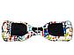 Гироборд Smart Balance 6,5 дюймів Графіті на білому самобаланс | гироскутер дитячий Смарт Баланс 6,5 LED фари, фото 4