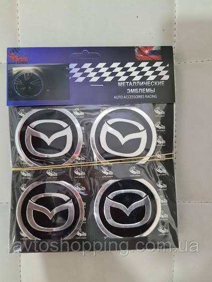 Наклейки на колпачки, заглушки, наклейки на диски 60 мм Mazda Мазда