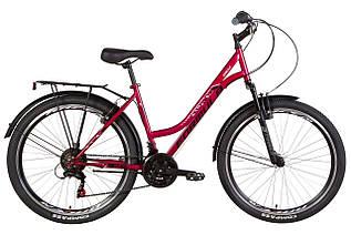 """Велосипед міський жіночий 26"""" Formula Omega AM Vbr 2021 рама 18"""" гранатовий"""