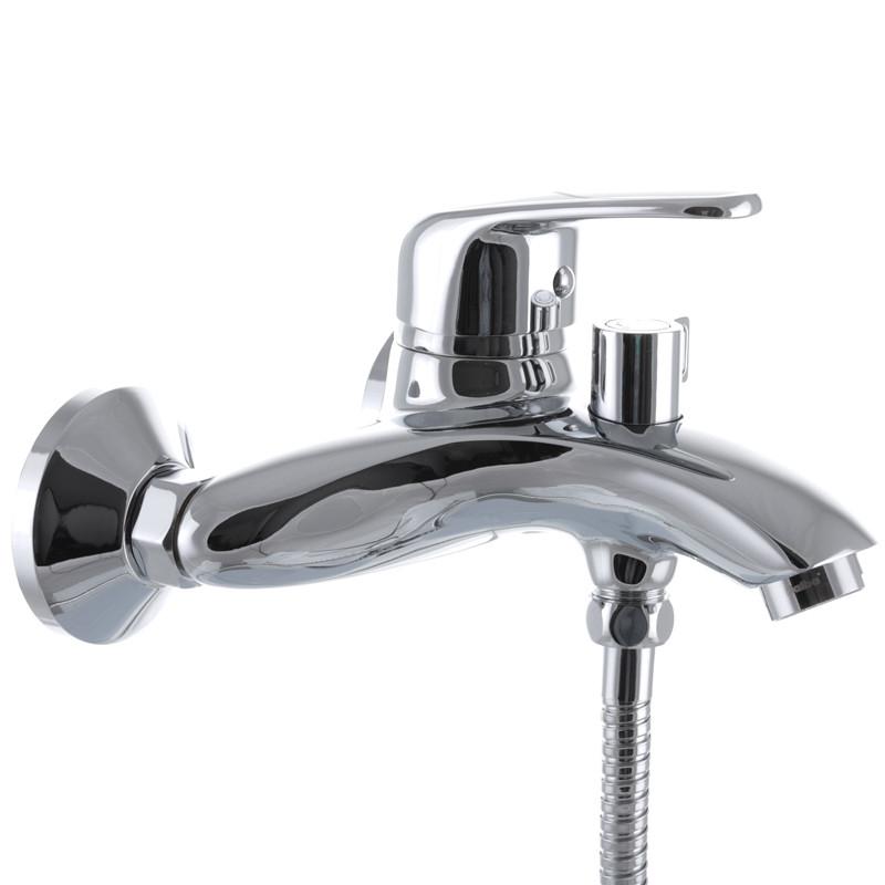 Смеситель для ванны Haiba MAGIC 009 с черной ручкой (HB0696)