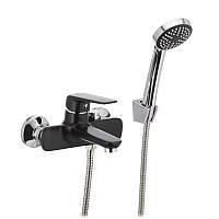 Змішувач для ванни MIXXUS OREGON 009 (перекл. кнопкою) чорний (MX0008)