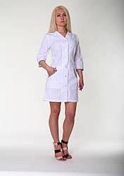 Женский медицинский халат 21112, белый р.42-60