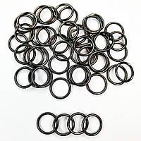 Кольцо для бюстгальтера, бретелей, купальников, регуляторы 12 мм металл. Блек никель (20 шт/уп) фурнитура.