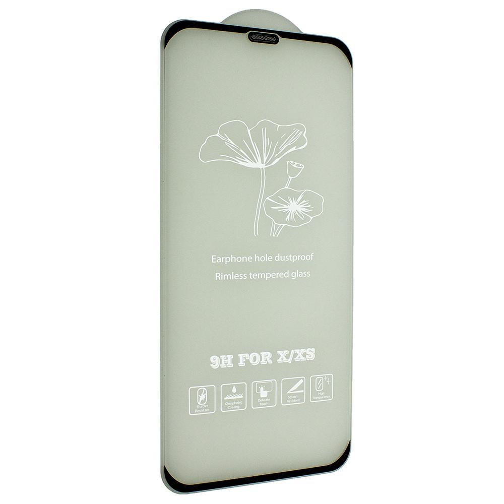 Захисне скло FlowerStand з сіткою від пилу для Apple iPhone XS/ iPhone X Black