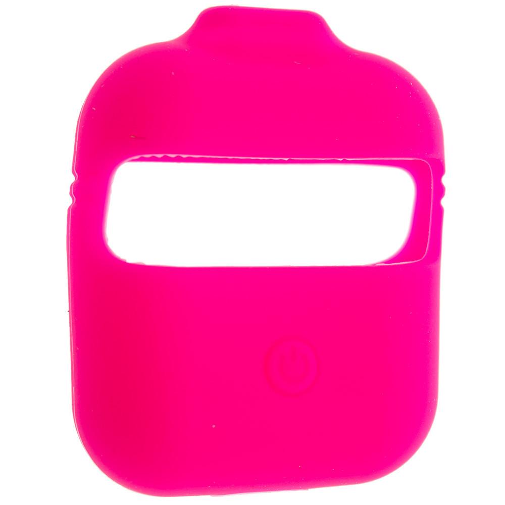 Силиконовый чехол Wuw с ремешками для наушников AirPods/AirPods 2 Розовый (Hot Pink)