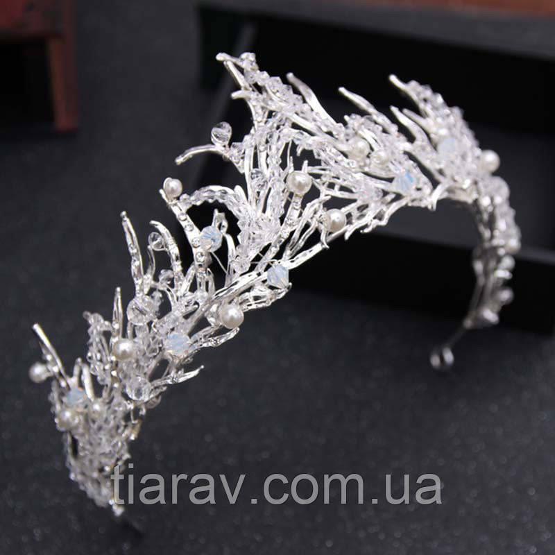 Свадебная тиара ГЛОРИЯ белая корона снежной королевы
