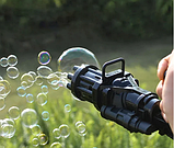 Генератор мильних бульбашок. Кулемет для мильних бульбашок. BUBBLE GUN пузыремет, фото 7