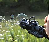 Генератор мыльных пузырей. Пулемет для мыльных пузырей. BUBBLE GUN пузыремёт, фото 7