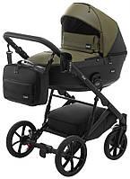 Дитяча коляска 2 в 1 Bair Kiwi 100% еко-шкіра BK-11/15 хакі - чорний
