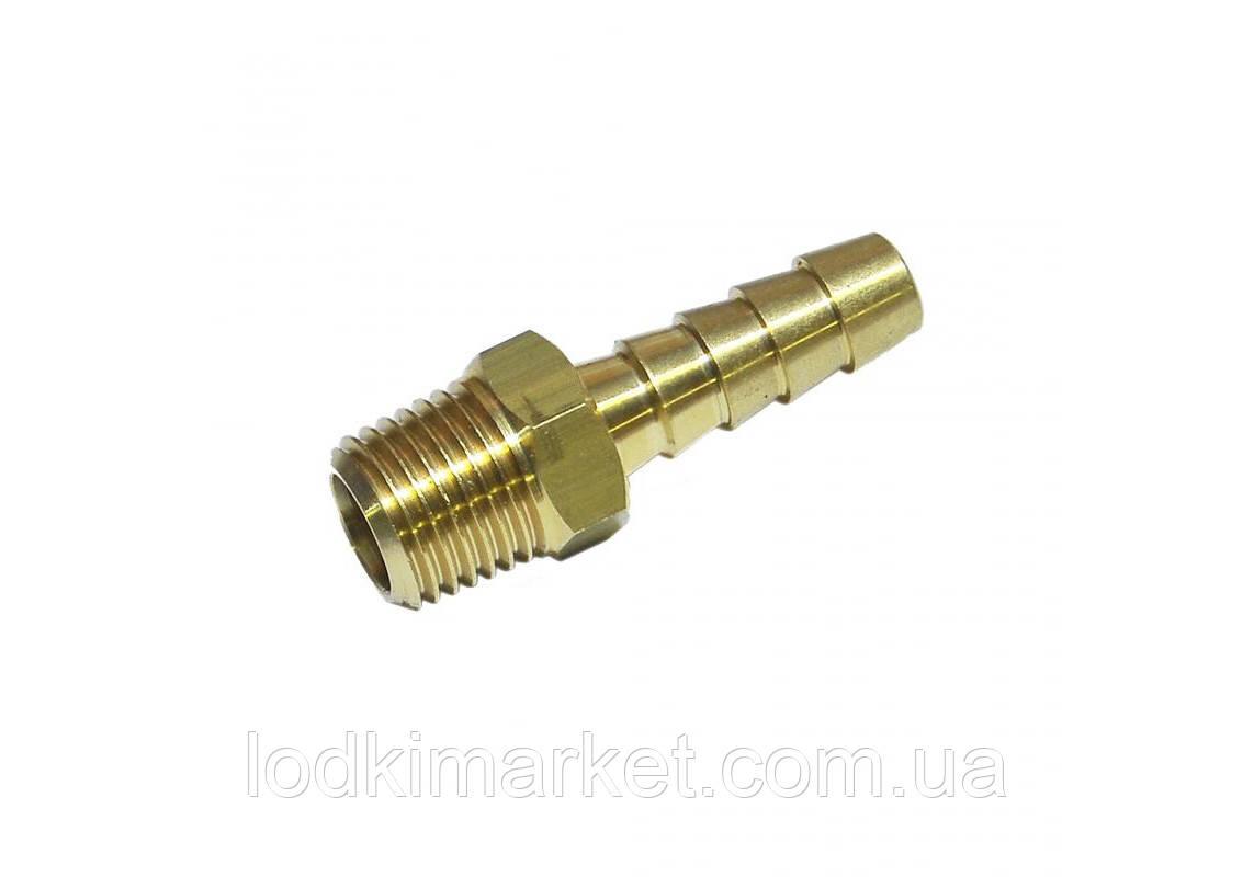 Конектор латунний (ялинка) для паливного бака C33430