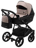 Дитяча коляска 2 в 1 Bair Kiwi 100% еко-шкіра BK-18/15 капучино - чорний