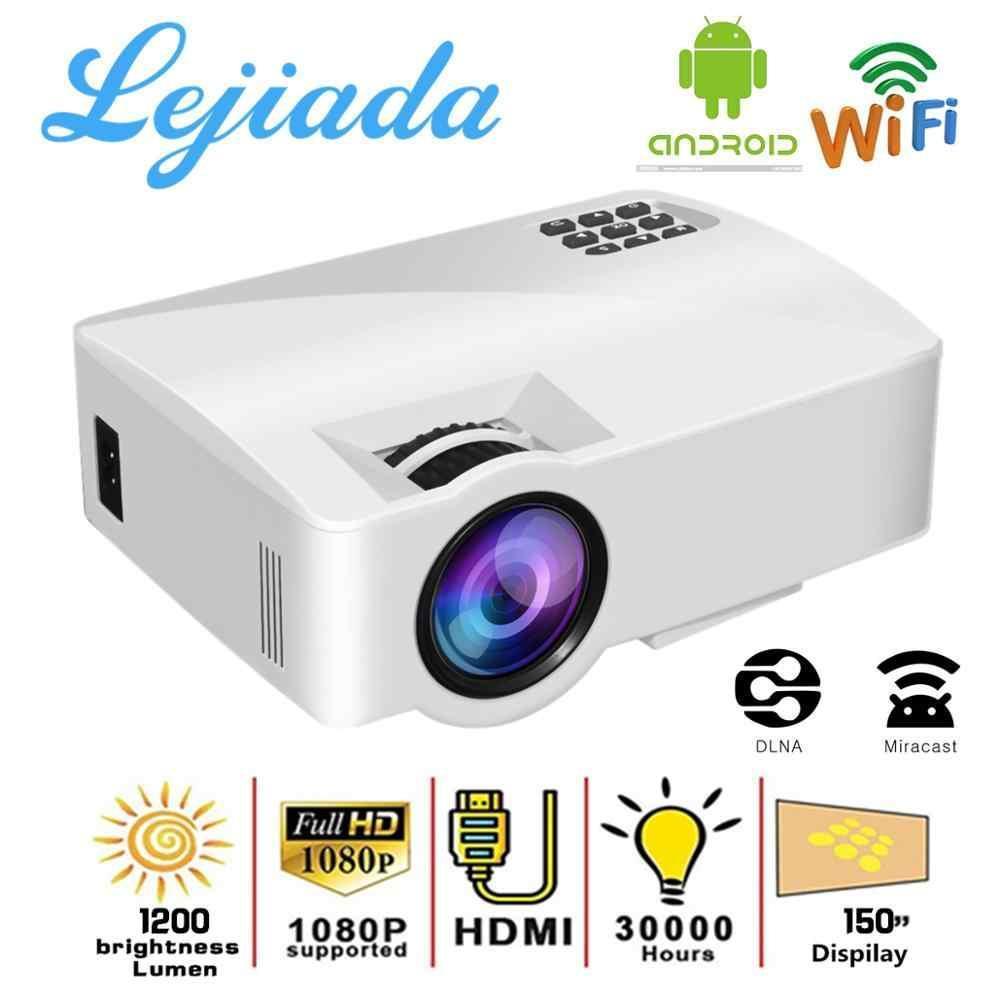 Портативний мультимедійний проектор для домашнього кінотеатру LED Projector A8 Android 6.0 WiFi Білий