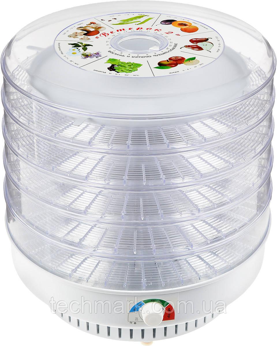 Сушилка электрическая для овощей и фруктов на 6 секций. ВЕТЕРОК-2 ЕСОФ-0,6/220 ТМ