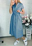 "Жіноче довге коттоновое сукню на гудзиках ""Lesley""  Норма, фото 8"