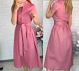 "Жіноче довге коттоновое сукню на гудзиках ""Lesley""  Норма, фото 4"