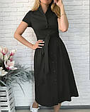 "Жіноче довге коттоновое сукню на гудзиках ""Lesley""  Норма, фото 6"