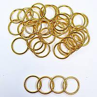 Кольцо для бюстгальтера, купальников, бретелей, регуляторы 15мм металл. Золото (20 шт/уп) фурнитура.