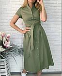 """Длинное коттоновое платье на пуговицах """"Lesley""""  Батал, фото 2"""