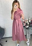 """Длинное коттоновое платье на пуговицах """"Lesley""""  Батал, фото 3"""