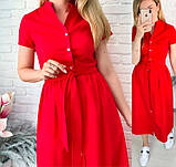 """Длинное коттоновое платье на пуговицах """"Lesley""""  Батал, фото 4"""