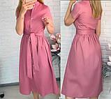 """Длинное коттоновое платье на пуговицах """"Lesley""""  Батал, фото 5"""