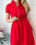 """Длинное коттоновое платье на пуговицах """"Lesley""""  Батал, фото 6"""
