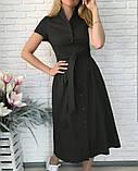 """Длинное коттоновое платье на пуговицах """"Lesley""""  Батал, фото 7"""