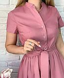"""Длинное коттоновое платье на пуговицах """"Lesley""""  Батал, фото 8"""