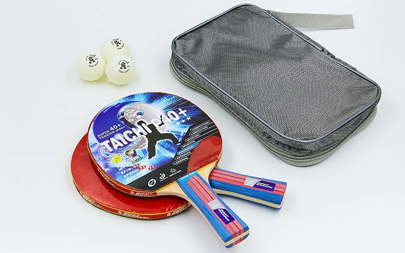 Набір (2 ракетки, 3 м'ячі, чохол) для настільного тенісу GIANT DRAGON MT-6505