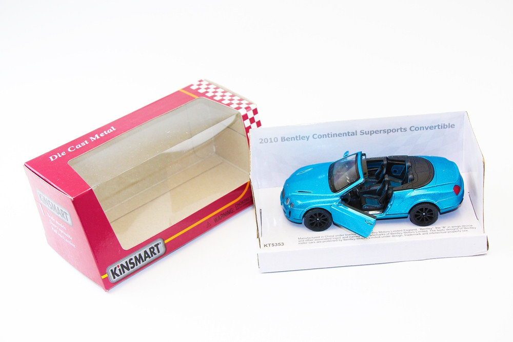 "KINSMART Мет. машина ""Bentley Continental Supersports Сonvertible"""