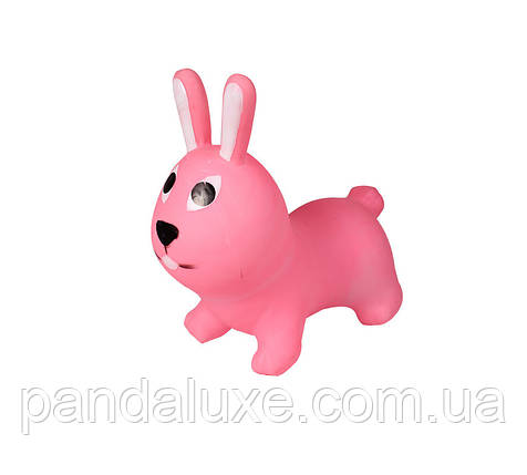 Детский прыгун кролик BT-RJ-0068 резиновый (Розовый), фото 2