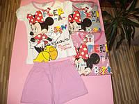 Летняя пижама с шортиками для девочек Дисней  Минни 98-134 см