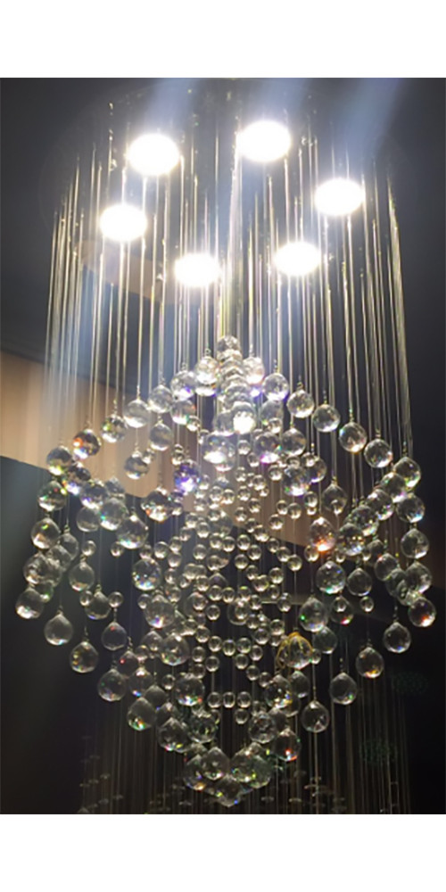 Люстра декоративна кришталева каскад на 6 лампочок 3158-6