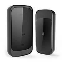 Влагозащищенный беспроводной дверной звонок Digital Lion WDB-03, 58 мелодий, до 300 м, Чёрный