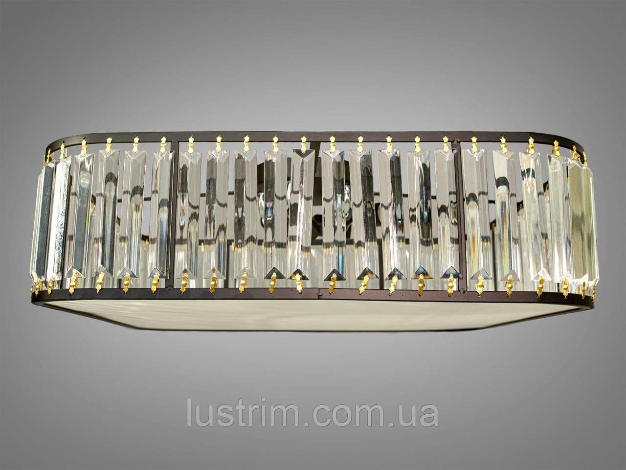 Сучасна кришталева люстра стельова на 5 ламп