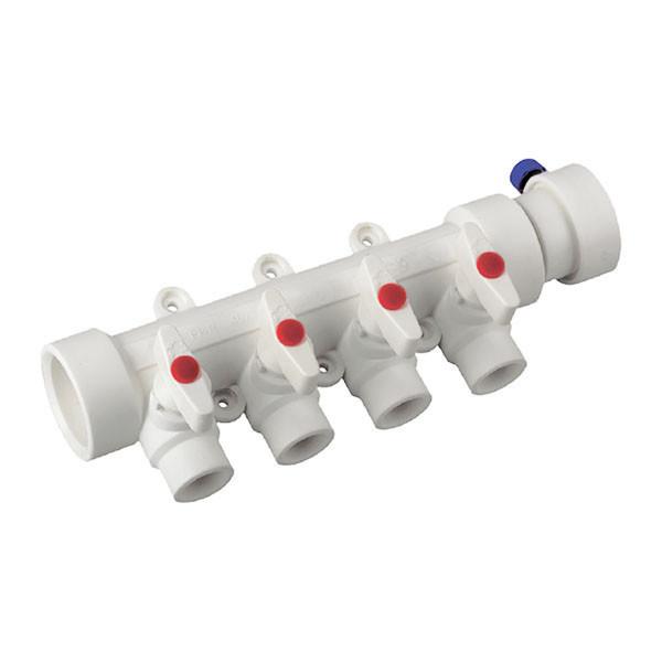 KP ППР Колектор 4-way з кульовими кранами