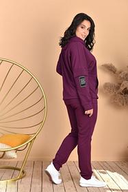Женский спортивный костюм большие размеры марсаловый SKL11-259285