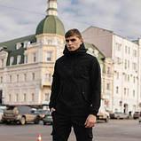 Чоловічий костюм Softshell чорний демісезонний. Куртка чоловіча, штани утеплені Ключниця в подарунок SKL59-259556, фото 3