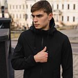 Чоловічий костюм Softshell чорний демісезонний. Куртка чоловіча, штани утеплені Ключниця в подарунок SKL59-259556, фото 4