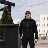Чоловічий костюм Softshell чорний демісезонний. Куртка чоловіча, штани утеплені Ключниця в подарунок SKL59-259556, фото 5
