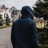 Чоловічий костюм синій демісезонний. Куртка чоловіча синя, штани утеплені. Ключниця в подарунок SKL59-259557, фото 4