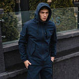 Чоловічий костюм синій демісезонний. Куртка чоловіча синя, штани утеплені. Ключниця в подарунок SKL59-259557, фото 5