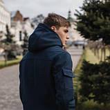 Чоловічий костюм синій демісезонний. Куртка чоловіча синя, штани утеплені. Ключниця в подарунок SKL59-259557, фото 8