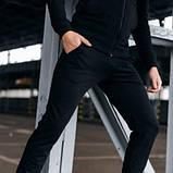 Костюм чоловічий спортивний Cosmo чорний Кофта толстовка і штани плюс Подарунок SKL59-261300, фото 4
