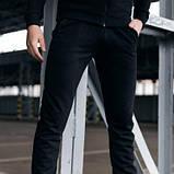 Костюм чоловічий спортивний Cosmo чорний Кофта толстовка і штани плюс Подарунок SKL59-261300, фото 8