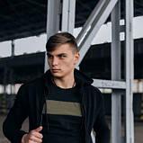 Костюм чоловічий спортивний Cosmo чорний Кофта толстовка і штани плюс Подарунок SKL59-261300, фото 9
